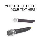 Microphone sans fil Photo libre de droits