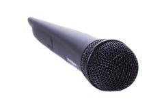 Microphone sans fil noir Images libres de droits