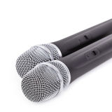 Microphone sans fil sur le fond blanc Image libre de droits