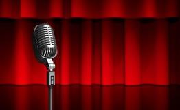 Microphone on scene Stock Photography