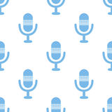 Microphone seamless pattern Stock Photography