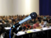 Microphone at Seminar Stock Photo