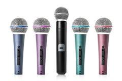 Microphone set Stock Image