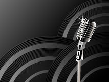 Microphone shining background Stock Photography
