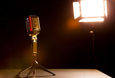 Microphone for shows Stock Photography