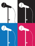 Microphone Silhouette Colors Royalty Free Stock Photos