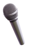 Microphone silver. Isolated on a white royalty free stock images