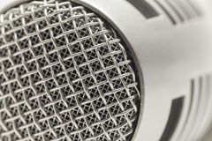Microphone. Silver Microphone Close Up With Selective Focus Royalty Free Stock Photo