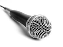 Microphone. Silver Microphone Isolated on white stock photo