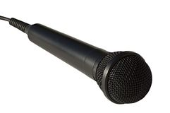 Microphone singer Royalty Free Stock Photo