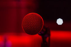 Microphone singer Stock Photos