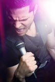 Microphone Singing Man Stock Photography