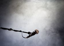 Microphone and smoke Stock Photo