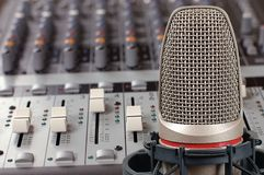 Microphone in sound studio Stock Photography
