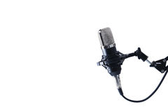 Microphone. Sound studio. Microphone in close-up stock images