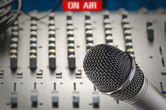 Microphone in sound studio Royalty Free Stock Photo