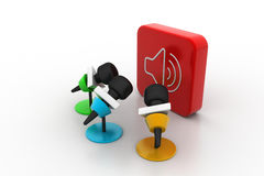Microphone with sound symbol Stock Photography