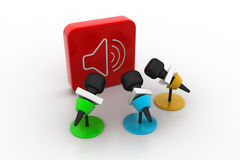 Microphone with sound symbol Stock Photo