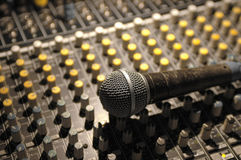 Microphone and soundboard Royalty Free Stock Photo