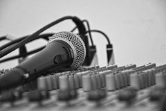Microphone On A Soundboard  Stock Image