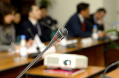 Microphone for the speaker royalty free stock image