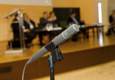 Microphone for the speaker Stock Photo