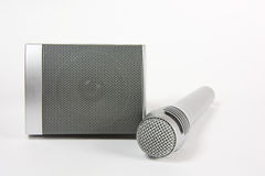 Microphone and speaker for music and speech Royalty Free Stock Images