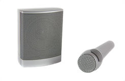 Microphone and speaker for playback of music and speech Stock Images