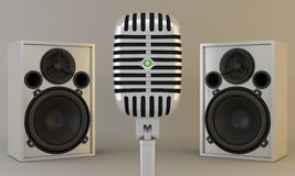 Microphone and speakers Stock Photography