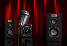 Microphone and speakers Stock Photos