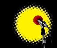 Microphone In Spotlight Stock Image