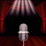 Microphone spotlight Royalty Free Stock Photography
