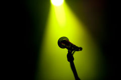 Microphone on  a stage Royalty Free Stock Images