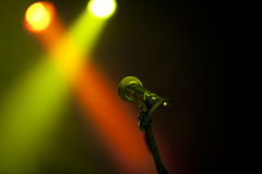 Microphone on  a stage Stock Photos
