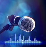 Microphone on stage Royalty Free Stock Photos