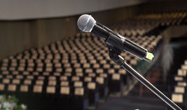 Microphone on the stage Royalty Free Stock Images
