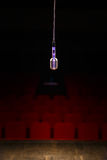 Microphone in the stage lights Royalty Free Stock Photo