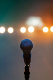 Microphone on stage Royalty Free Stock Image