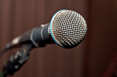 Microphone on stage before show Royalty Free Stock Image