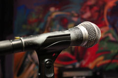 Microphone on the stage Royalty Free Stock Photography