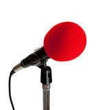 Microphone on a stand stock photo