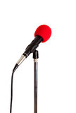 Microphone on a stand Royalty Free Stock Image