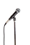 Microphone on a stand stock image