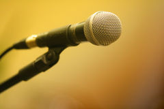 Microphone in stand. A microphone in a stand Royalty Free Stock Images