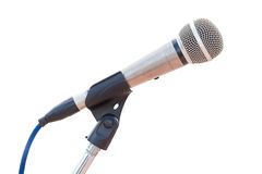Microphone on a stand Stock Photos