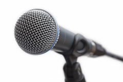 Microphone on stand. Close up of microphone on stand royalty free stock photos