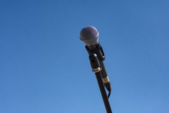 Microphone on stand Stock Photography