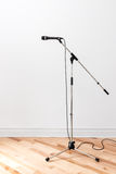 Microphone on a stand Royalty Free Stock Photo