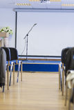 Microphone on Stand in Front of The Empty Auditorium. Stock Photography