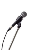Microphone and stand isolated on white background Stock Images